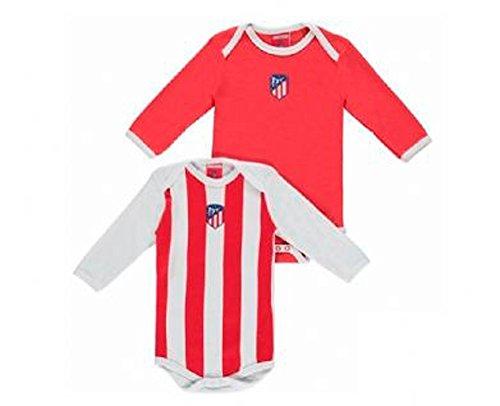 Atlético de Madrid 2 Bodys Manga Larga Bebé (18 Meses)