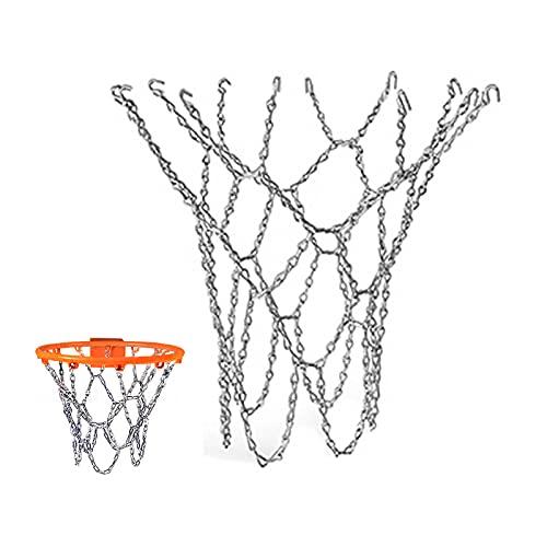 Cadena de Baloncesto de Metal, Red de Baloncesto Duradera,Red de Baloncesto de Repuesto,Cancha de Baloncesto del Campus,Se Puede Utilizar en Patios de Recreo, Escuelas, Lugares PúBlicos
