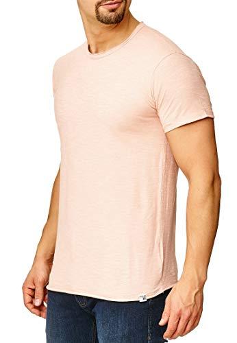 Indicode Heren Willbur Tee T-shirt met ronde hals, 100% katoen | Regular Fit Korte Mouwen Shirt Een Kleur of contrast merk In 30 Kleuren S-3XL Voor Mannen