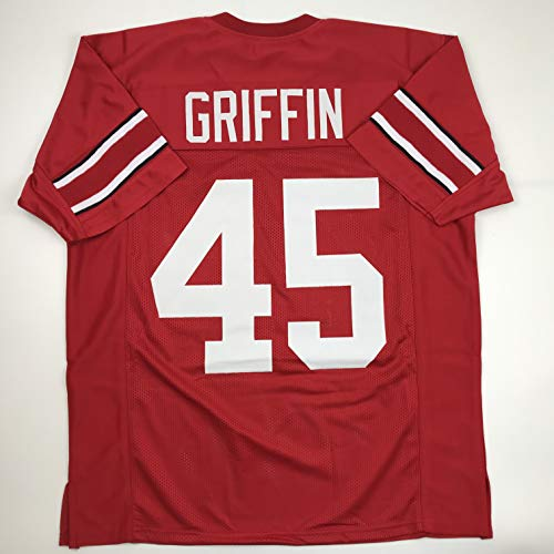 Unsigned Archie Griffin Ohio State Red Custom Stitched College Football Jersey Size Men's XL New No Brands/Logos