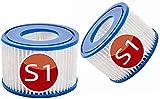 KHDFID S1 Cartuchos de repuesto para Intex 29001E Filtro de Piscina Spa Reutilizable Cartucho Filtro de Piscina Filtro de Piscina Cartucho Filtro de Piscina para Jardín Exterior (2 Filtros)