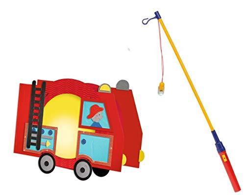 Conipa Laternen Bastelset mit zusätzlichem Laternenstab elektrisch (Feuerwehr)
