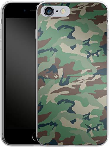 Carcasa de Silicona para iPhone 6 Plus, diseño de Camuflaje, Color Verde y marrón