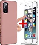 Compatible avec one PLUS One PLUS 6T Verre trempé et coque ROSE silicone souple mat douce housse...