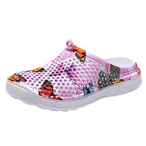 Garden Clog Shoes Beach Footwear Water bash Womens Summer Slippers Swimming Diving Surf Yoga Hiking Sport Exercise Pink
