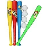 SHEHUIREN Mini Foam Baseball Bat Set - Safe Soft Tball Kits with Foam Balls for Boys Girls, 11.8 Inches