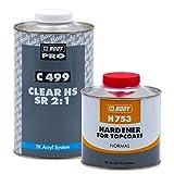 Barniz 2K Auto Clear HS 499SR HBBody - 1 L Laca + 0,5 L Catalizador