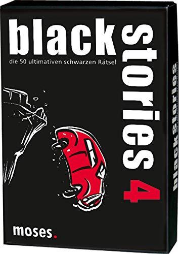 KULTFAKTOR GmbH Black Stories 4 Die 50 ultimativen schwarzen Rätsel schwarz-rot-Weiss Einheitsgröße