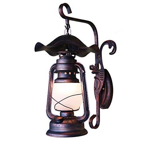 Lámpara de Pared, Apliques de Hierro Forjado Retro, faroles Antiguos, Velas de Pared, Luces Creativas de Pasillo