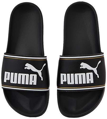 Puma Unisex-Erwachsene Leadcat FTR Zapatos de Playa y Piscina, Schwarz Black Team Gold White, 49.5 EU