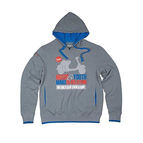 Original Vespa Herren Kapuzen Sweatshirt Motiv Music Größe XXL grau Merchandise Kollektion 2013