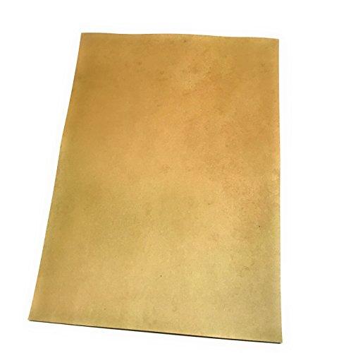 Láminas envejecidas para diplomas, pergaminos, mapas del tesoro, lote de 25 hojas vírgenes, formato A4, gramaje 90 gramos, efecto envejecido en el delantero y el reverso