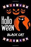 HALLOWEEN BLACK CAT: CREATE YOUR OWN MONSTERS ON THIS 120 BLANK PAGED SKETCHBOOK (Diary, Notebook) FELL THE MAGIC OF HALLOWEEN NIGHT WHEN MOONLIGHT GLOW FAT PUMPKINS (Witches, Ghost, Bats )