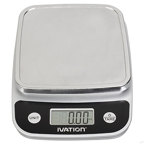 Digital Kitchen Food Scale, Multifunction, Lightweight 11 Pounds Capacity, Black