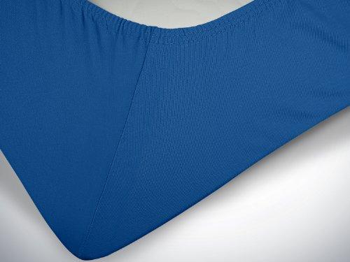 #13 npluseins Kinder-Spannbettlaken, Spannbetttuch, Bettlaken, 70×140 cm, Royalblau - 6