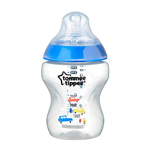 Tommee Tippee Biberón Closer to Nature, 260 ml, Azul, 1 Unidad, Azul