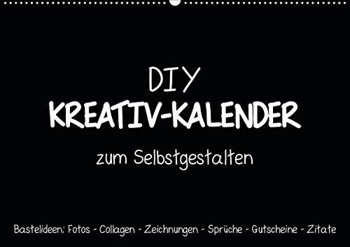 Bastelkalender: DIY Kreativ-Kalender -schwarz- (Wandkalender 2020 DIN A2 quer): Gestalte deinen Kalender selbst! (Monatskalender, 14 Seiten ) (CALVENDO Hobbys)