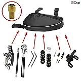 GIDup Fahrrad Reparatur Set - Fahrrad Werkzeug Set mit Fahrrad Flickzeug - 16 in 1 Fahrrad Multitool - robuste Fahrrad Satteltasche mit hochwertiger Luftpumpe aus Aluminium im...