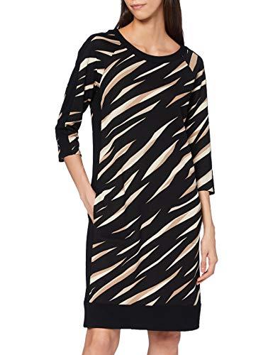 Betty Barclay Collection Damen 1527/2075 Kleid, Black/Beige, 40
