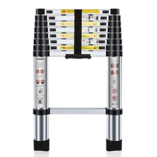 Nestling® Multi-Purpose Folding Extensionable Telescopic Aluminium Ladder...