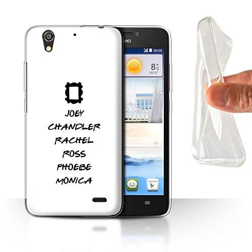 Coque pour Huawei Ascend G630 Drôle Sitcom TV Parodie Personnages Désign Transparent Doux Silicone Gel/TPU Souple Etui Housse Case