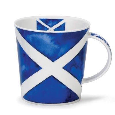 Schottland Andreaskreuz St Andrews Flagge Becher - Fein Knochen China Cairngorm Stil Von Dunoon