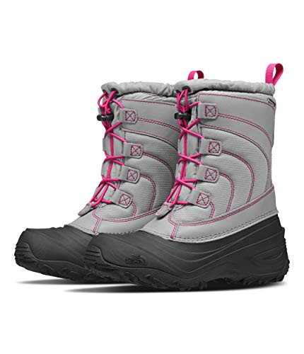 The North Face Youth Alpenglow IV Boot, Frost Grey/Mr. Pink, 5