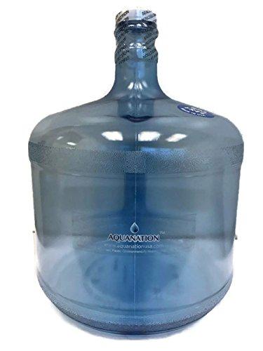 Reusable BPA-Free Food Grade Safe Tritan Plastic Water Bottle Jug Gallon Container Canteen - (Made in USA) (3 Gallon Stubby)