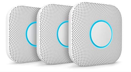 Google Nest Protect Rauch- und Kohlenmonoxid-Alarm (Batterie), 3 Stück