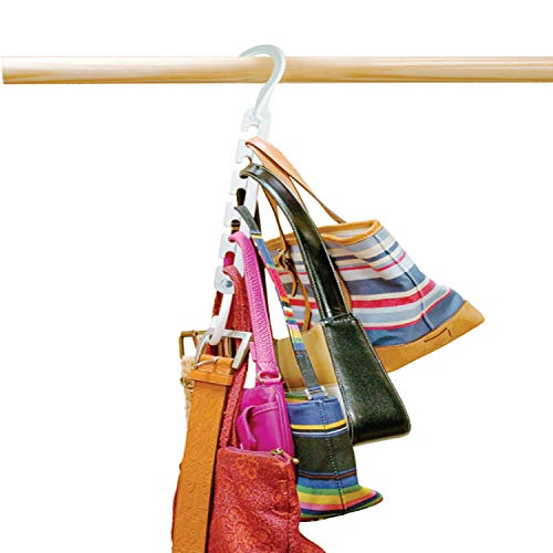 Wonder Hanger Max, NEW & IMPROVED, Pack of 6 - 3x the Closet Space for Easy, Effortless, Wrinkle-free Clothes, White