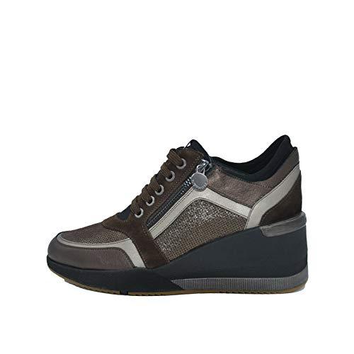 Stonefly - ella 9 laminated sneaker - 39 - marrone