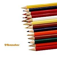 Aibecy 24色プロフェッショナルオイルカラー木製の鉛筆の絵画グラフィティの鉛筆の学校のスケッチの鉛筆の美術品