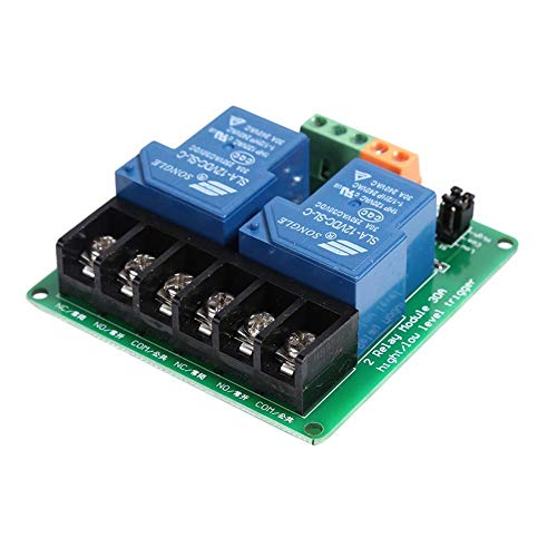 Chidjon Módulo de relé de 2 vías con 30 A de alto nivel inteligente SPS de control de automatización, 12v