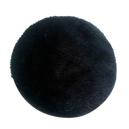 Non Slip Round Chair Cushion Seat Pads Stool Cover with Stretch Tie Buckle - 12-16 Inch For Choice - Black, 35cm (14 inch)