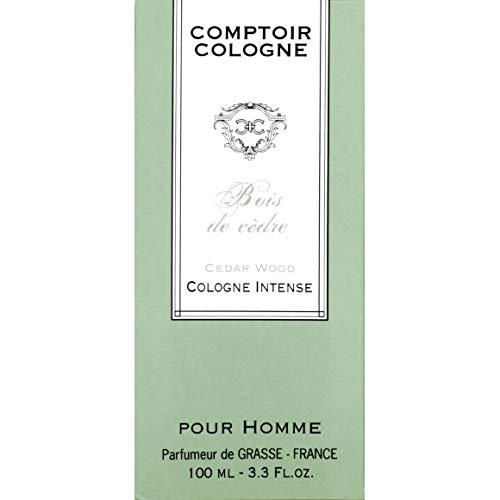 Comptoir Cologne - Eau De Cologne Pour Homme - Bois De Cèdre - 100Ml - Lot De 3 - Vendu Par Lot - Livraison Gratuite En France