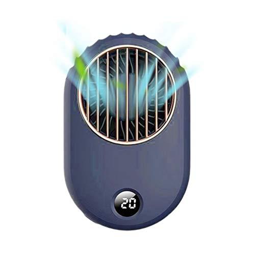 Knowoo Ventilador de Mano para el Cuello, Ventilador de Cintura portátil Recargable por USB, Mini Ventilador de cinturón Personal, Ventilador de Cintura Colgante Duradero portátil para Viajes