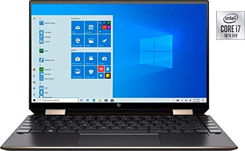 Newest HP Spectre x360 13t (10th Gen Intel i7-1065G7, 4K OLED, 16GB, 1TB SSD, Precision, WiFi 6, with Stylus, 2-in-1, B&O, 3 Years McAfee Security, Windows 10 PRO, HP Warranty) Nightfall Black
