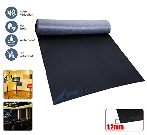 Arrowzoom New 1.2MM X 1M X 0.5M Black Mass Loaded Vinyl Soundproofing Acoustic Barrier Sheet AZ1146