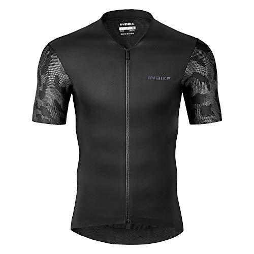 INBIKE Maillot Ciclismo Hombre Verano Jersey Transpirable Elástico Ligero Camiseta Manga Corta Bicicleta Carretera Montaña(S)