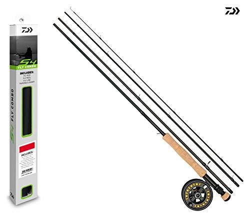 Daiwa S4 Combo de Pesca con Mosca – caña/Carrete/Tubo – Cargado con línea – Todos los Modelos, 10' / #7/7/8 Reel - WF7F