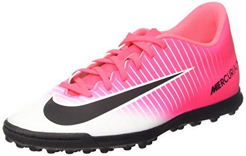 Nike Mercurialx Vortex III TF, Scarpe per Allenamento Calcio Uomo, Rosa (Racer Pink/Black/White), 40 EU