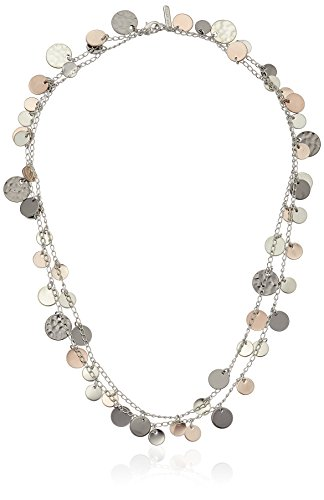 "Nine West ""Classics"" Tri Tone Strand Necklace, 42"""