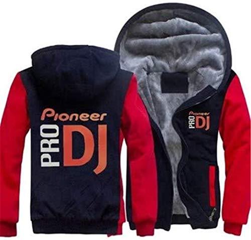 Chaqueta elegante y cómoda sudadera – Pioneer-pro Dj Print para hombre casual con cremallera primavera suéter con costura manga larga béisbol uniforme abrigo – regalo adolescente A-M, estilo clásico