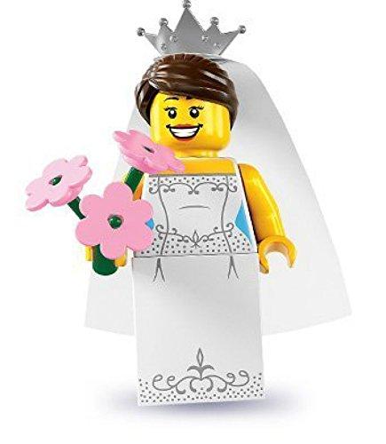 LEGO 8831 - Minifigur Braut mit Blumen aus Sammelfiguren-Serie 7