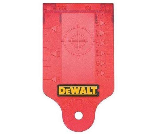 Dewalt laserdoelkaart (rood, met magneethouder voor eenvoudige bevestiging aan metalen onderbouwen) DE0730