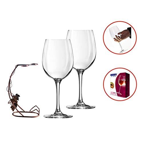 Onbreekbare gepersonaliseerde lange steel bruiloft partij camping grote rode wijn glas waterbeker bier mok set van 2 met beker houder, moderne creatieve transparant kristal glas wijnglas bedel, vaatwasser veilig
