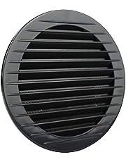 Kopie van ventilatierooster antraciet insecten ontluchting rond rooster afvoerlucht achterventilatie Ø 120 mm