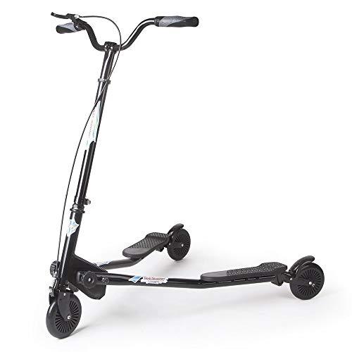 AOODIL Scooter abatible Plegable de 3 Ruedas para niños Tri Slider Kick Speeder Scooters Push Drifting con manija Ajustable para niños/niñas/niños