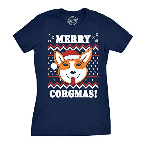 Womens Merry Corgmas T-Shirt