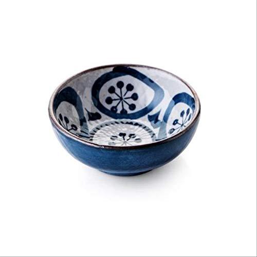 GJDBBLY Bowl Japanse keramische schaal blauw patroon huishoudservies